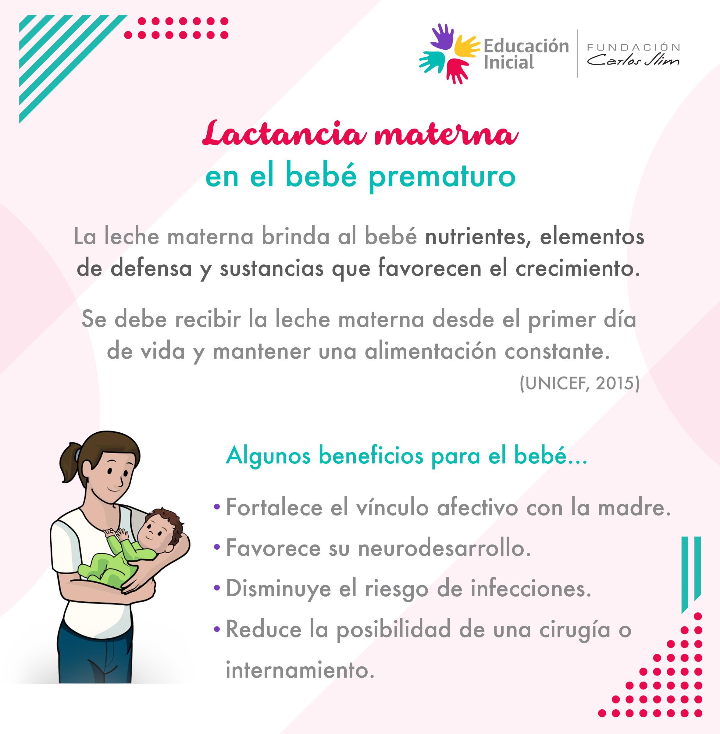 Lactancia materna en el bebé prematuro