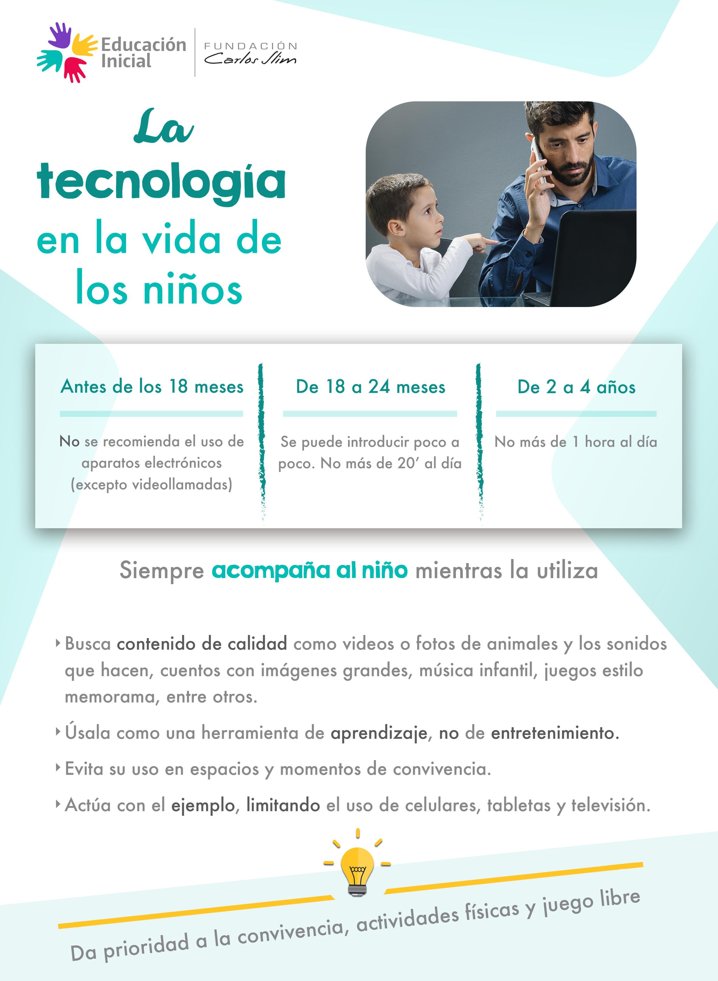 La tecnología en la vida de los niños