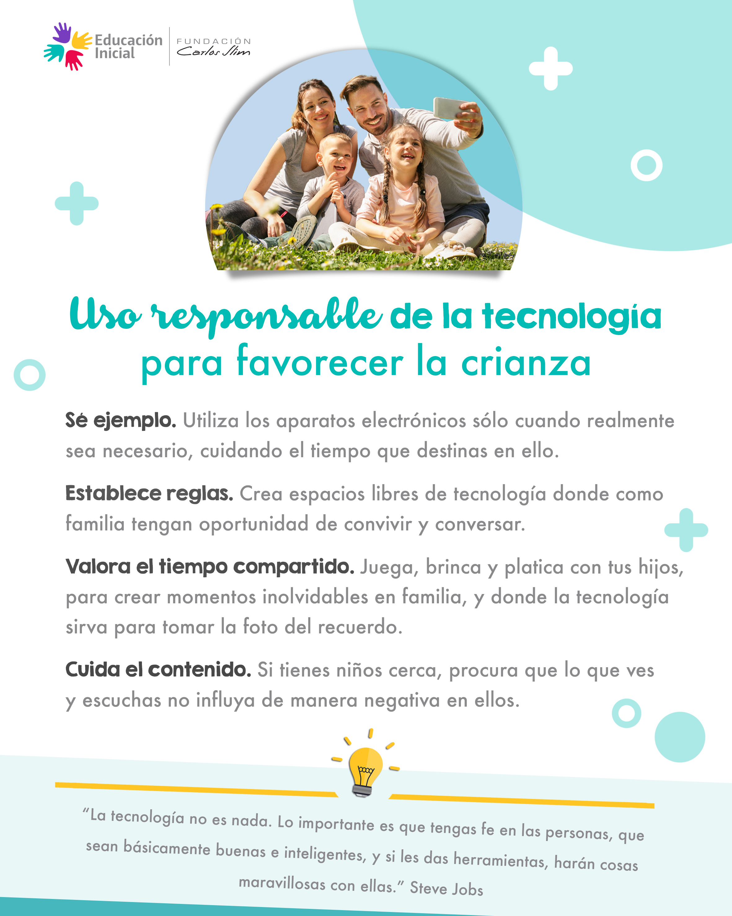 (576) Uso responsable de la tecnología para favorecer la crianza