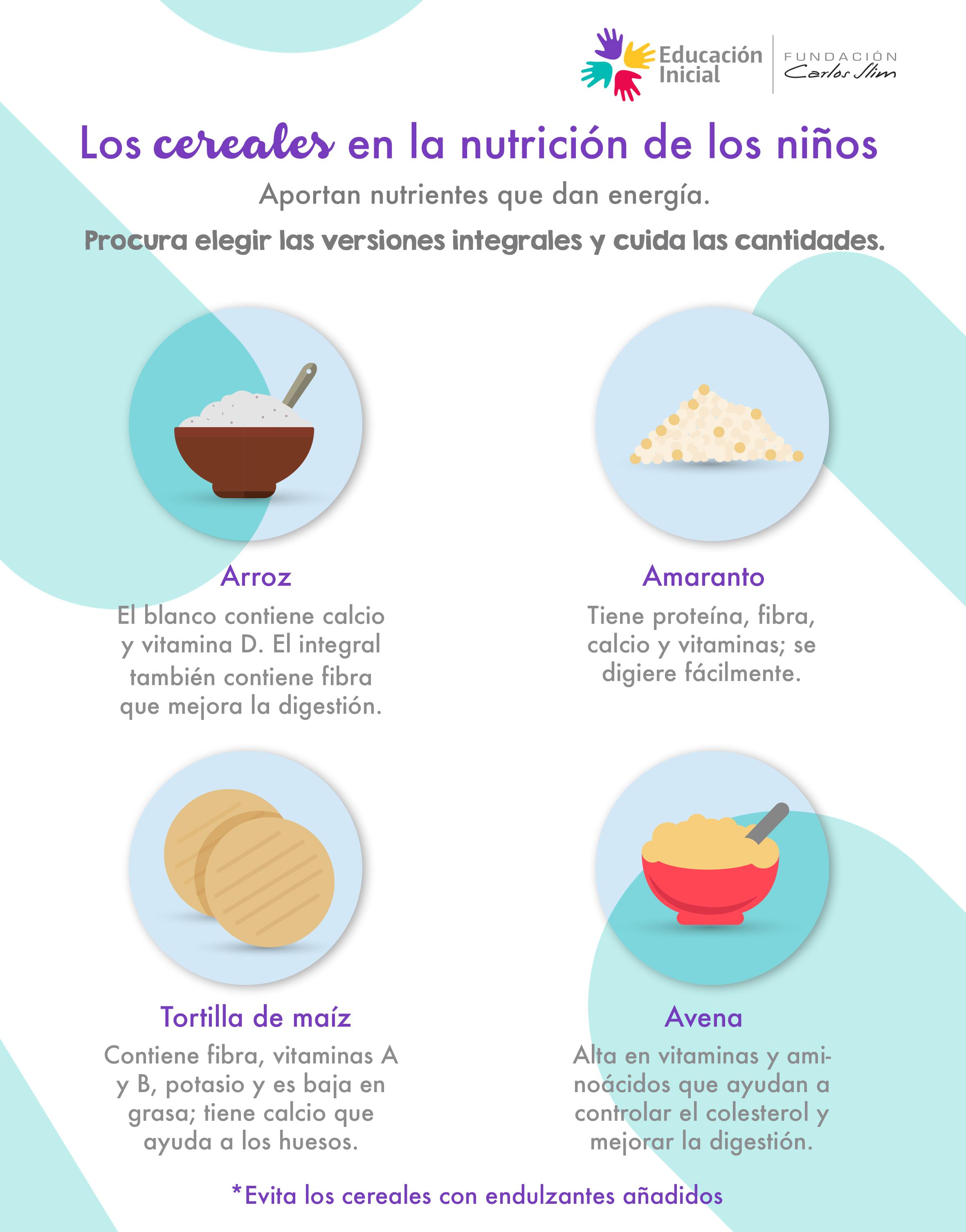 7. Los cereales en la nutrición de los niños 3