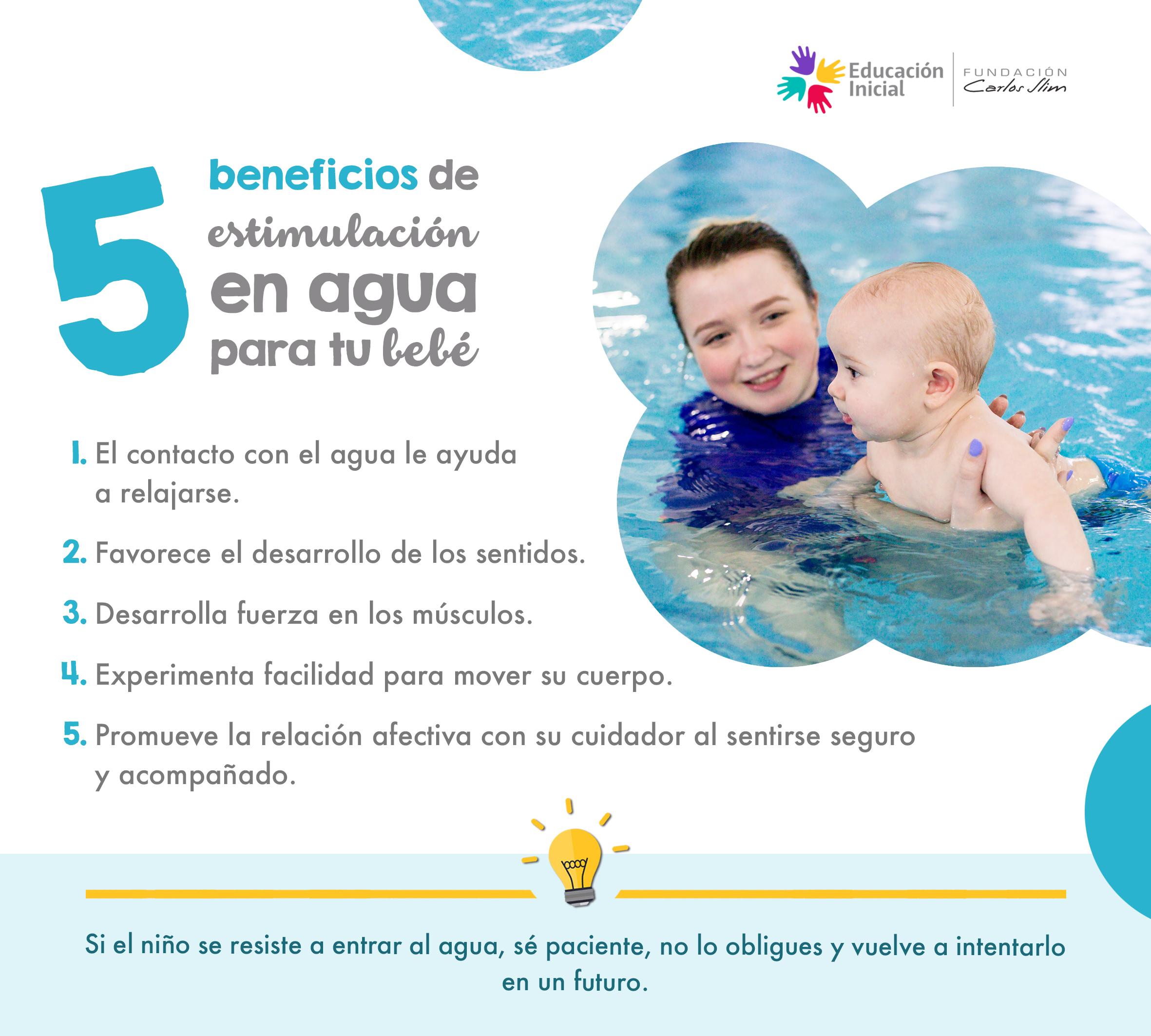 5 beneficios de estimulación en agua para tu bebé
