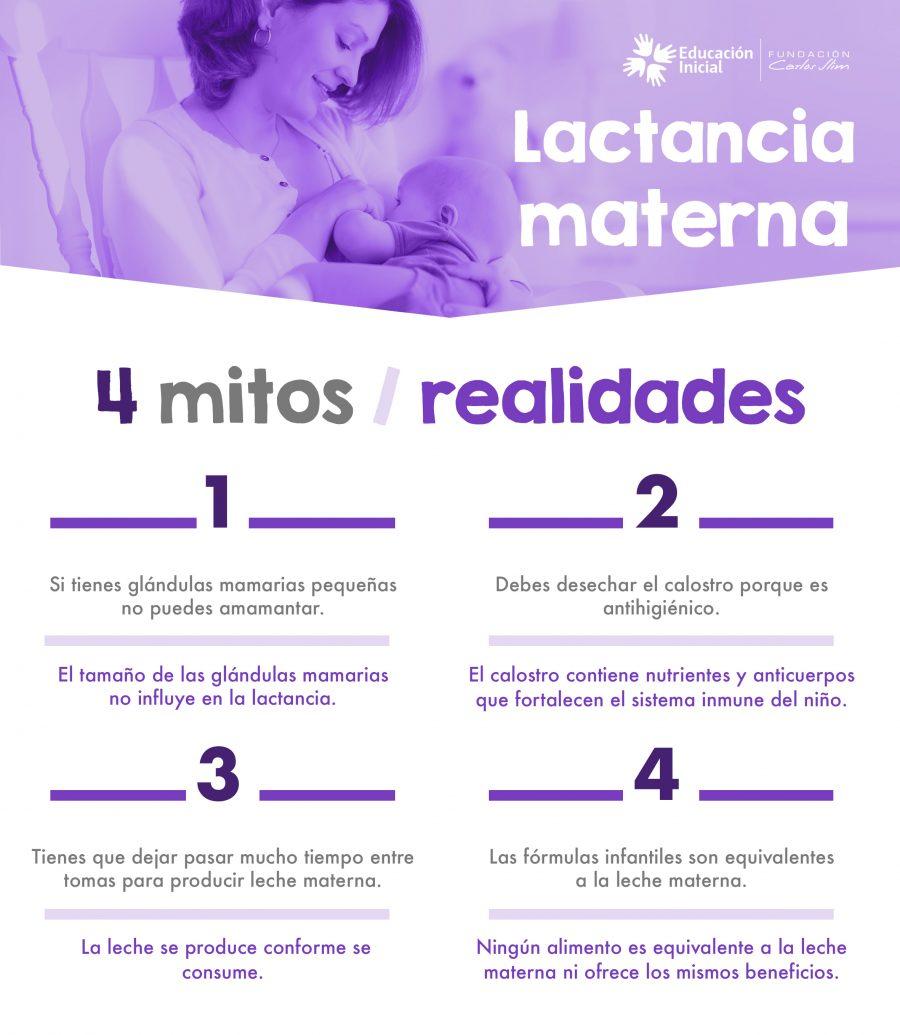 Lactancia materna. 4 mitos y realidades