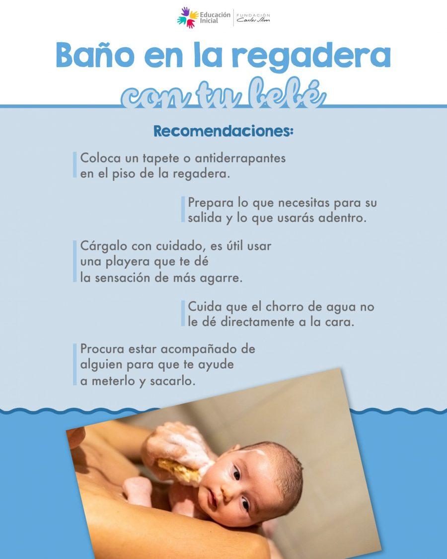 Baño en la regadera con tu bebé