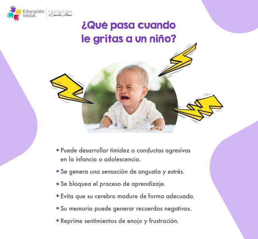 Qué pasa cuando le gritas a un niño