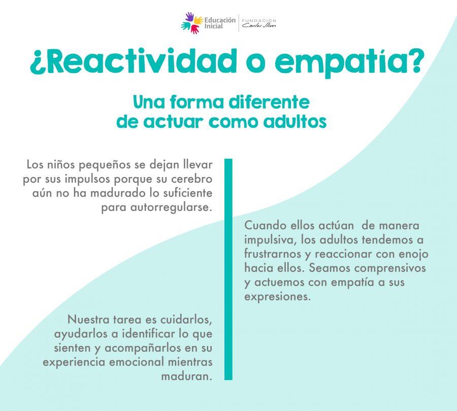 ¿Reactividad o empatía?