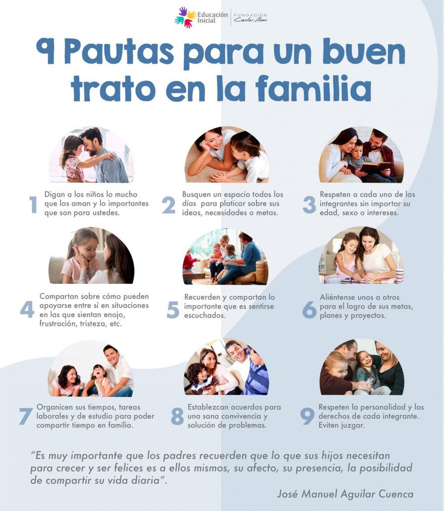 9 pautas para un buen trato en familia