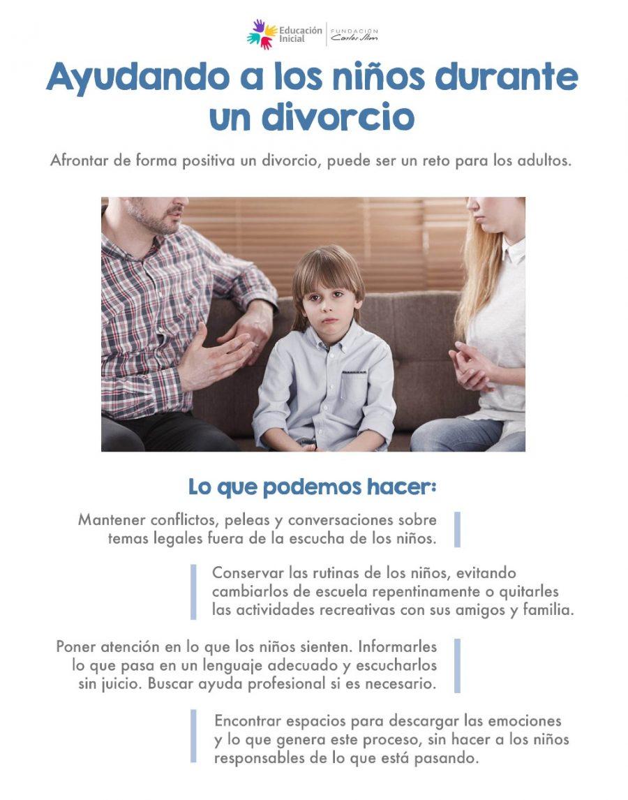 Ayudando a los niños durante el divorcio