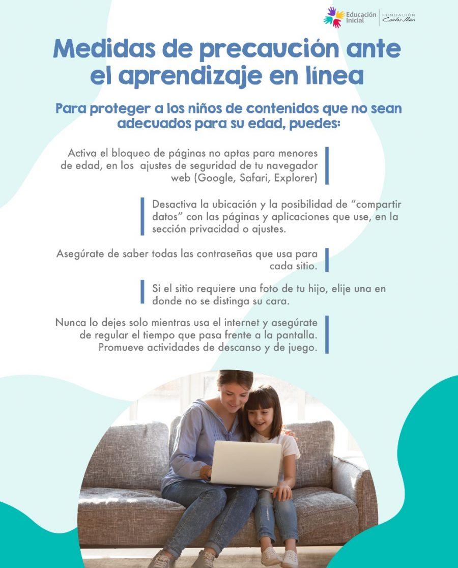 Medidas de precaución ante el aprendizaje en línea