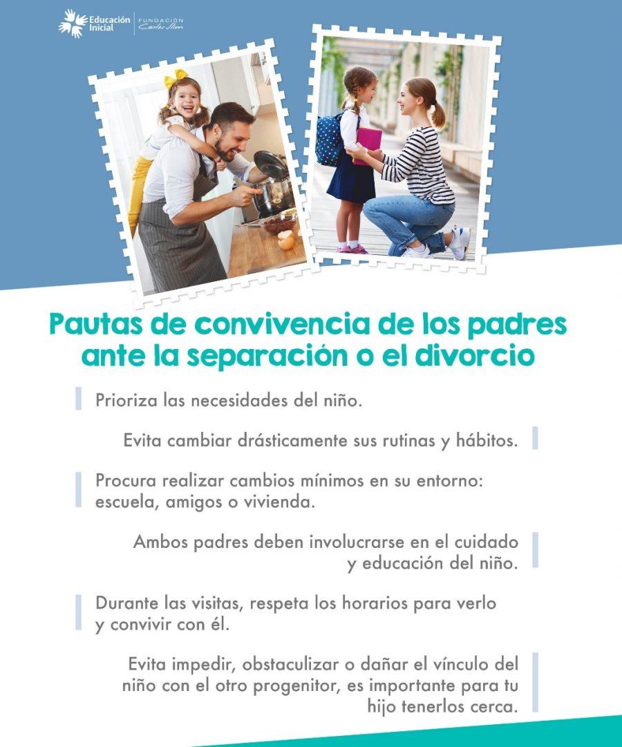 Pautas de convivencia de los padres ante la separación