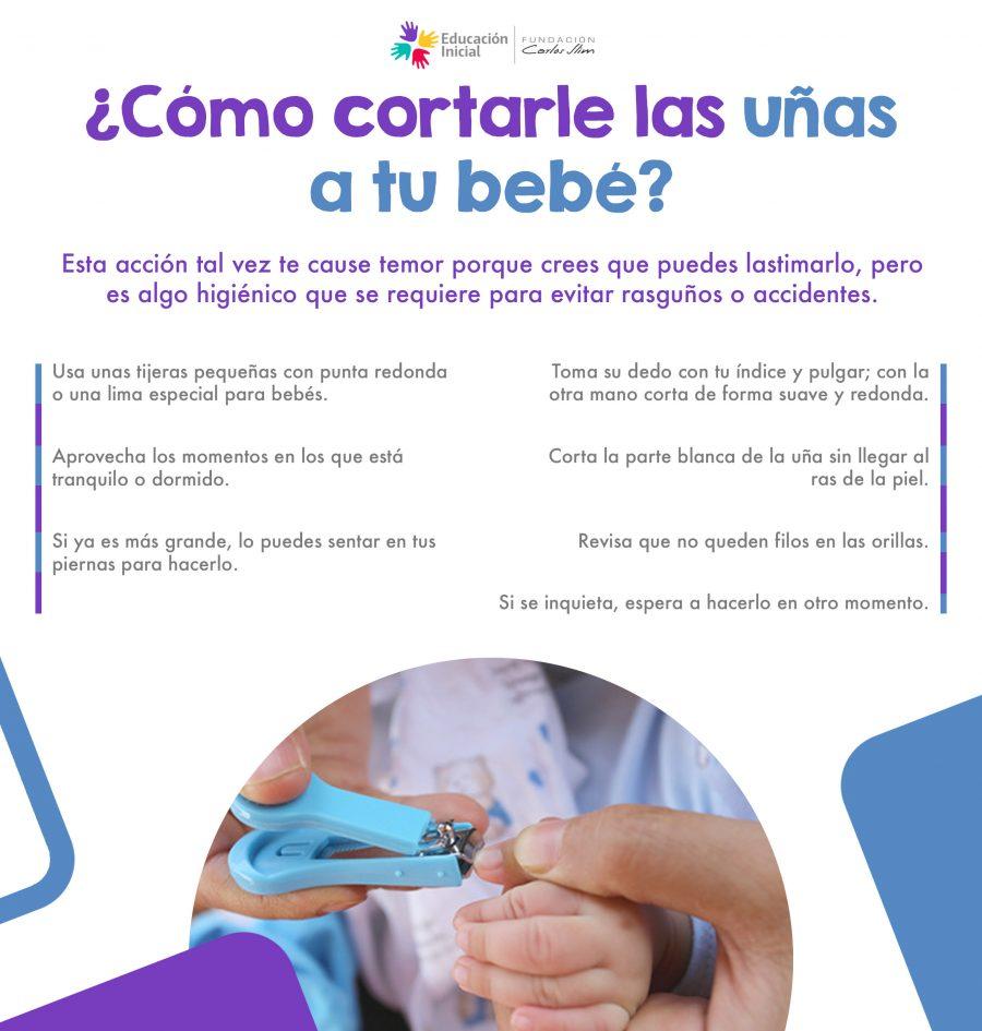 Cómo cortarle las uñas a tu bebé