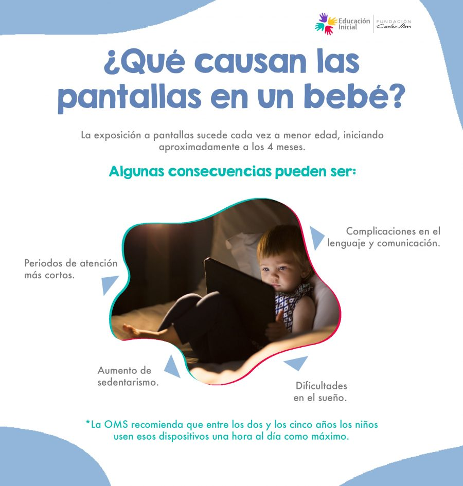 Qué causan las pantallas en un bebé