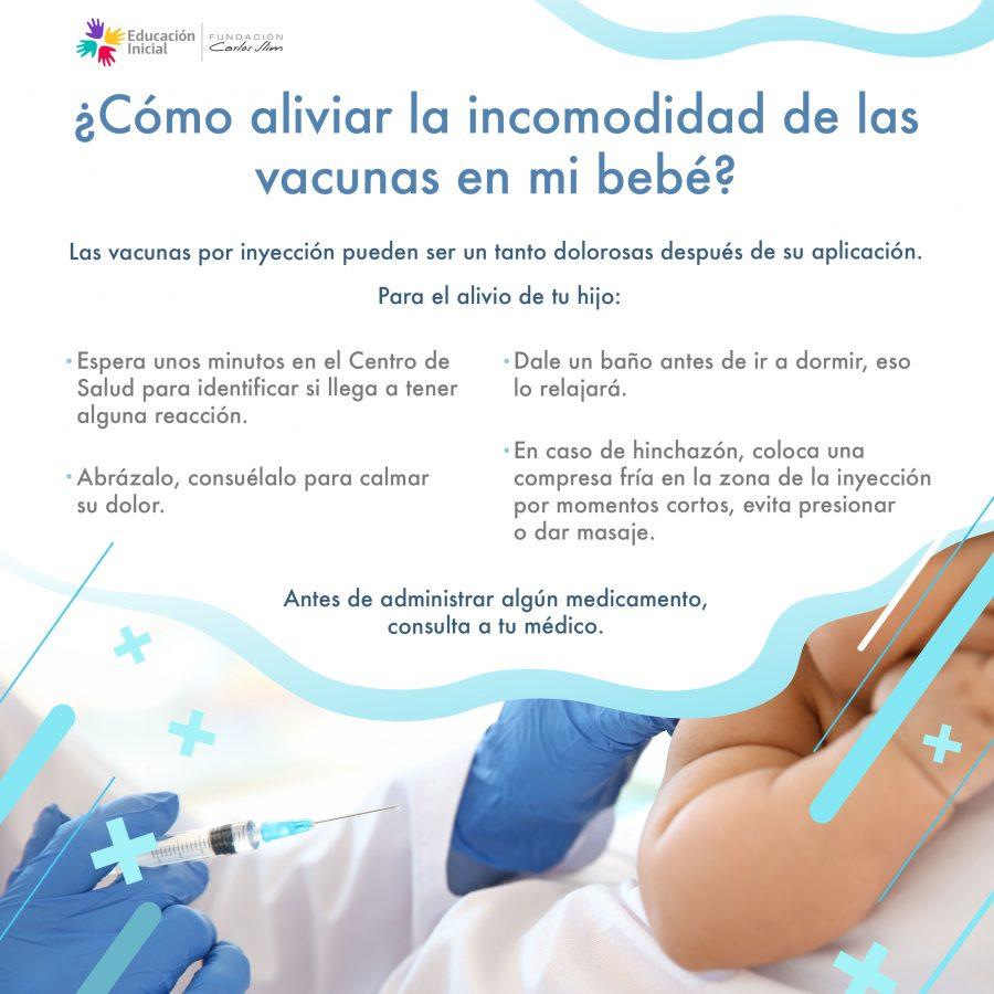 Cómo aliviar la incomodidad de las vacunas en mi bebé