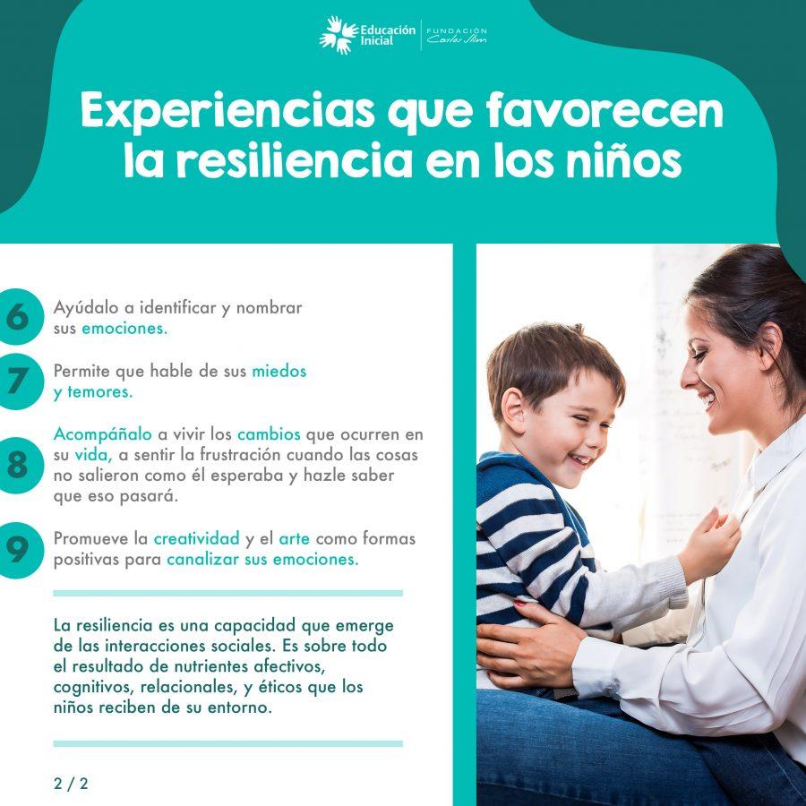 Experiencias que favorecen la resiliencia en los niños2
