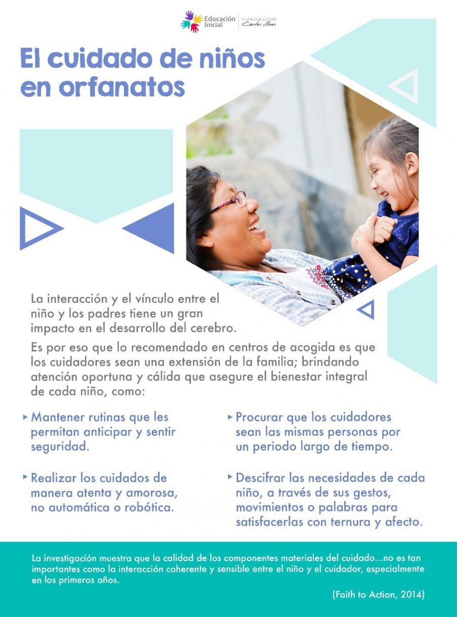 El cuidado de niños en orfanatos